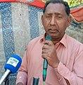 Zulfiqar Gadehi poet at literary program held in Johi, town by Adabi Sanghat.jpg