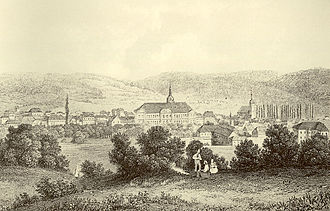 Palatine Zweibrücken -  View of Zweibrücken; engraving after a painting by Theodor Verhas