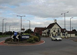 Blaxton village in United Kingdom