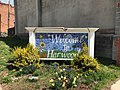 """Welcome to Harwood"" sign, E. 25th Street and Barclay Street (northeast corner), Baltimore, MD 21218 (33518885620).jpg"