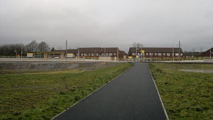 Kingsway Business Park tram stop - The station at Kingsway in January 2013, awaiting completion