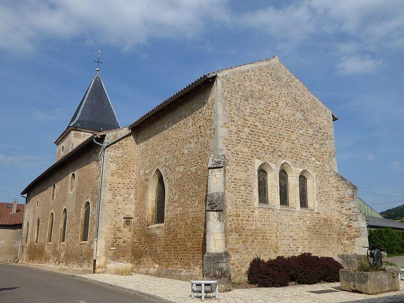 Chevet de l'église Saint-Laurent de Laître-sous-Amance (Meurthe-et-Moselle).