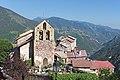 Église Saint-Laurent de Roure et pointe sud du village (l'après-midi).jpg