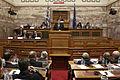 Ομιλία Αντιπροέδρου της Κυβέρνησης και ΥΠΕΞ Ευ. Βενιζέλου στα μέλη της Κοινοβουλευτικής Επιτροπής του ΝΑΤΟ (15089014533).jpg