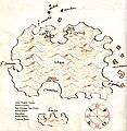 Χάρτης της νήσου Βις στην Κροατία - Antonio Millo - 1582-1591.jpg
