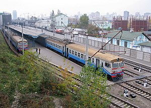 Elektrichka - Elektrichkas on suburban platforms in Kiev.