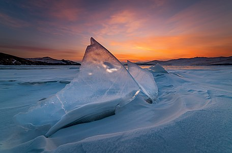 Before sunrise on Lake Baikal
