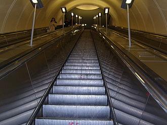 Mezhdunarodnaya (Moscow Metro) - Escalators