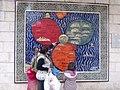 ירושלים במרכז העולם, רפליקה של מפה מימי הביניים המוצבת בקרבת בניין העירייה.JPG