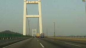 Crosses the pearl river using the humen pearl river bridge