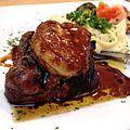 .Filet mignon et foie gras au muscat de Beaumes-de-Venise, Pastis Bistro, Palo Alto.jpg