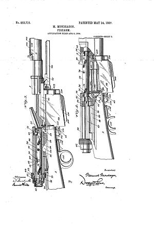 Mondragón rifle - Image: 002 mondragon patent rifle