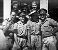 012 1942 - Dvr Tom Beazley (front, 2nd from left) with mates at Australian Soldiers Club, Tel Aviv, Pa.jpg