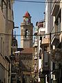 025 Carrer Bruguera, al fons el campanar de l'església.jpg