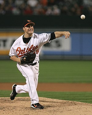 Érik Bédard - Bédard pitching for the Baltimore Orioles in 2006