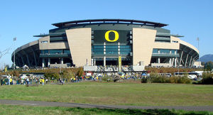Autzen Stadium - Looking north in October 2007
