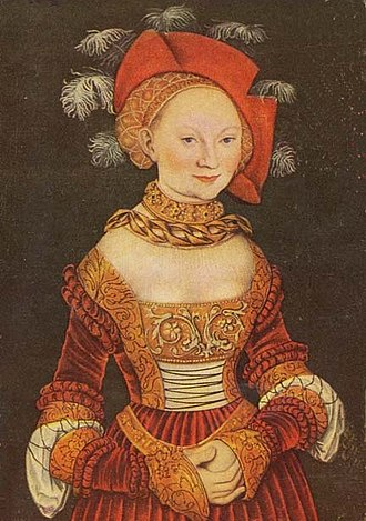 George, Margrave of Brandenburg-Ansbach - Emilie of Saxony, George's third wife.