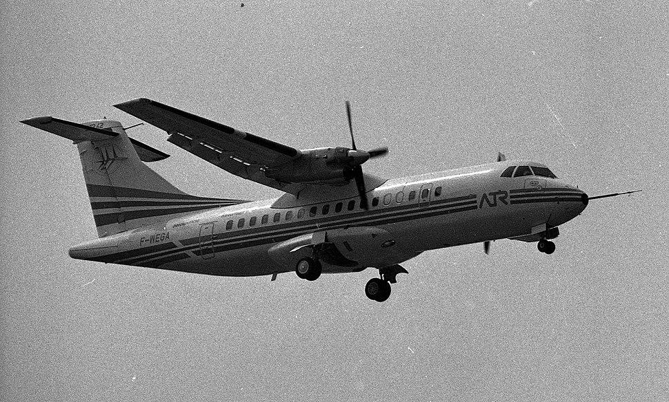 16.08.84 1er Vol de l'ATR 42 (1984) - 53Fi2096 (cropped)