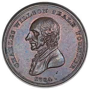 Franklin Peale - Admission token to the Peale Museum, 1821