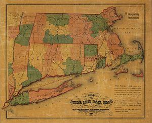 Shore Line Railway (Connecticut) - Image: 1860 Shore Line