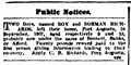 1908-12-12 Adelaide Observer - Public Notice (Roy Richards).png