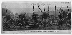Buck Flowers - Flowers' touchdown vs. Vanderbilt, 1919.