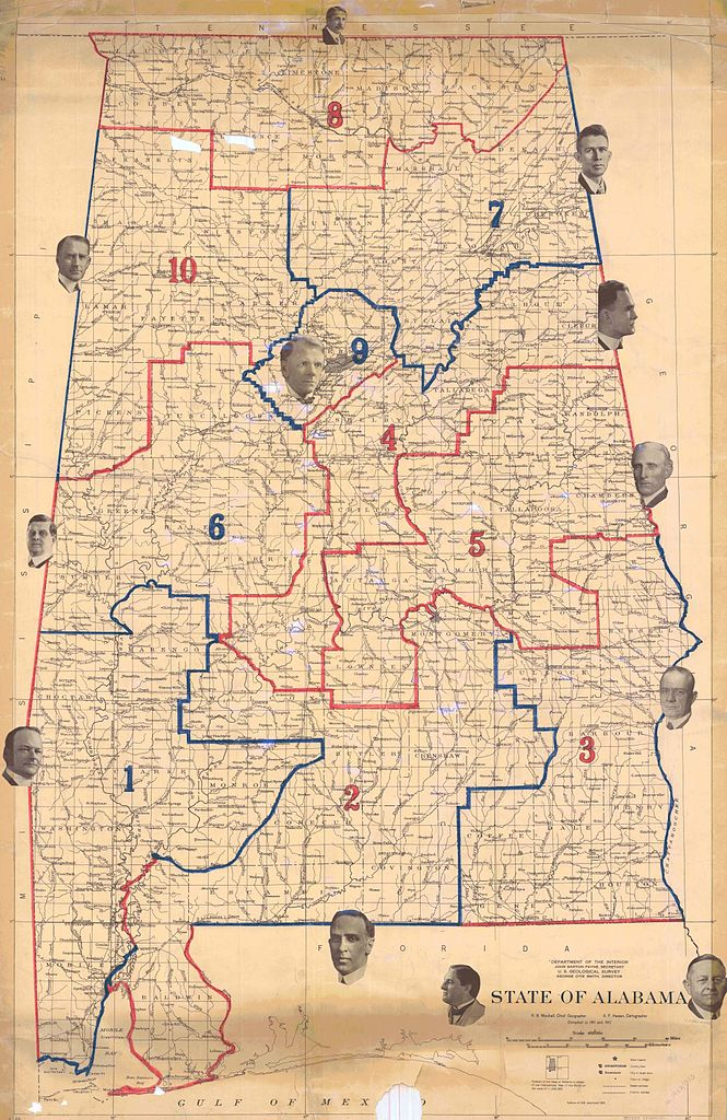 File1920 Map Of Alabama Congressional Districtsjpeg