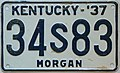 1937 Kentucky passenger license plate.jpg