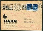 1948-09-23 Briefumschlag Hahn-Druckerei (20a) Hannover, Im Moore 36, Deutsche Presseausstellung.jpg