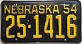 1954 Nebraska license plate.JPG