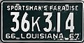 1966-67 Louisiana license plate.JPG