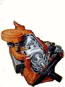 1972 Gm Rotary Engine Cutaway Shows Twin Rotors