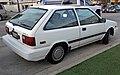 1989 Hyundai Excel GL 3-dr, rear right.jpg