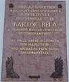 1 Fő Street, Béla Bartók plaque, 2020 Pápa.jpg