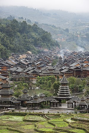 Kam people - Zhaoxing, the largest Dong village in China