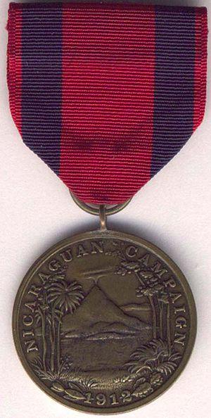 Nicaraguan Campaign Medal - Image: 1st Nic Med