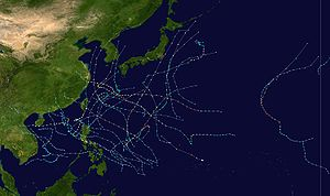 2000 Pacific typhoon season - Image: 2000 Pacific typhoon season summary