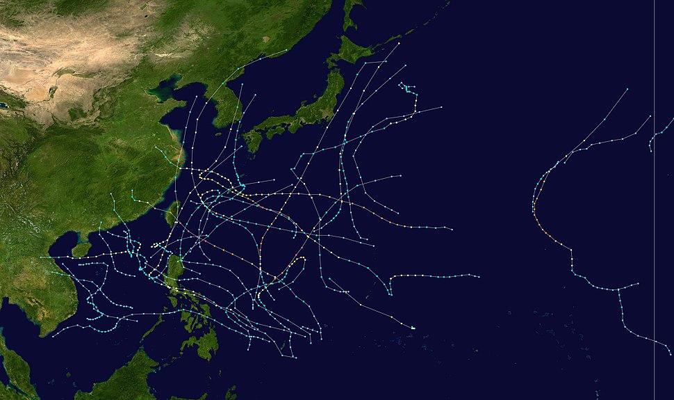 2000 Pacific typhoon season summary