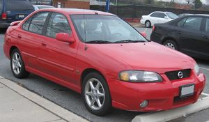 2002-2003 Nissan Sentra photographed in USA.