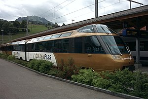 Montreux Oberland Bernois Railway - Arst 152 at the end of the same train