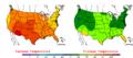 2005-06-21 Color Max-min Temperature Map NOAA.png