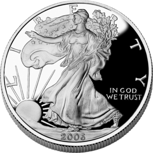 Silver as an investment - American Silver Eagle bullion proof coin