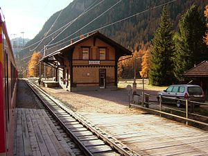Spinas (Rhaetian Railway station) - Spinas station