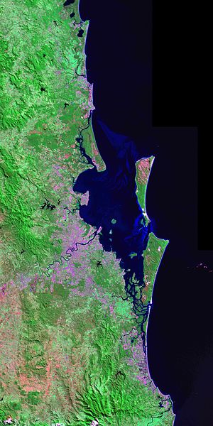 South East Queensland - South-East Queensland from the Landsat 7 satellite