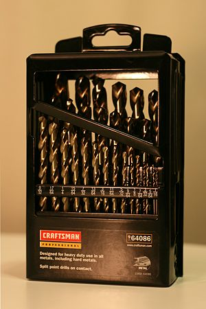 Drill bit sizes - Fractional drill bit set by Craftsman