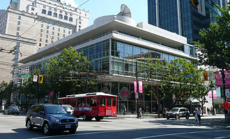 Vancouver Public Library - VPL moved its Central branch location from the Carnegie Library to 750 Burrard Street in 1957. The building was used as the Central branch until 1995.