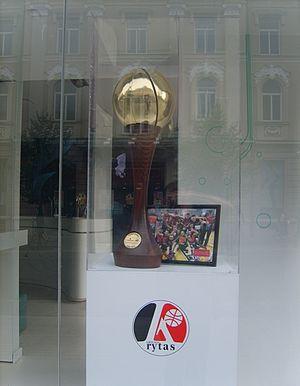 Lietuvos krepšinio lyga - LKL trophy in Vilnius