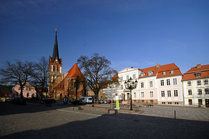 Bad Freienwalde - St Nicolas Church and town hall