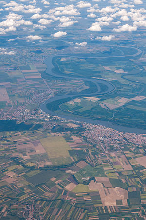 Vukovar - Satellite picture of Vukovar on the Danube river.