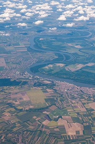 Vukovar - Satellite picture of Vukovar on the Danube river.